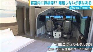 ホテルに本格操縦席!疑似フライトでパイロット気分(19/08/14)