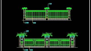 【25000 Cad Blocks Download  】wrought Iron Railing Fence Design