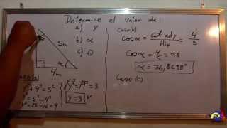 Calculo de los ángulos de un triangulo - SENO , COSENO , TANGENTE - Explicación