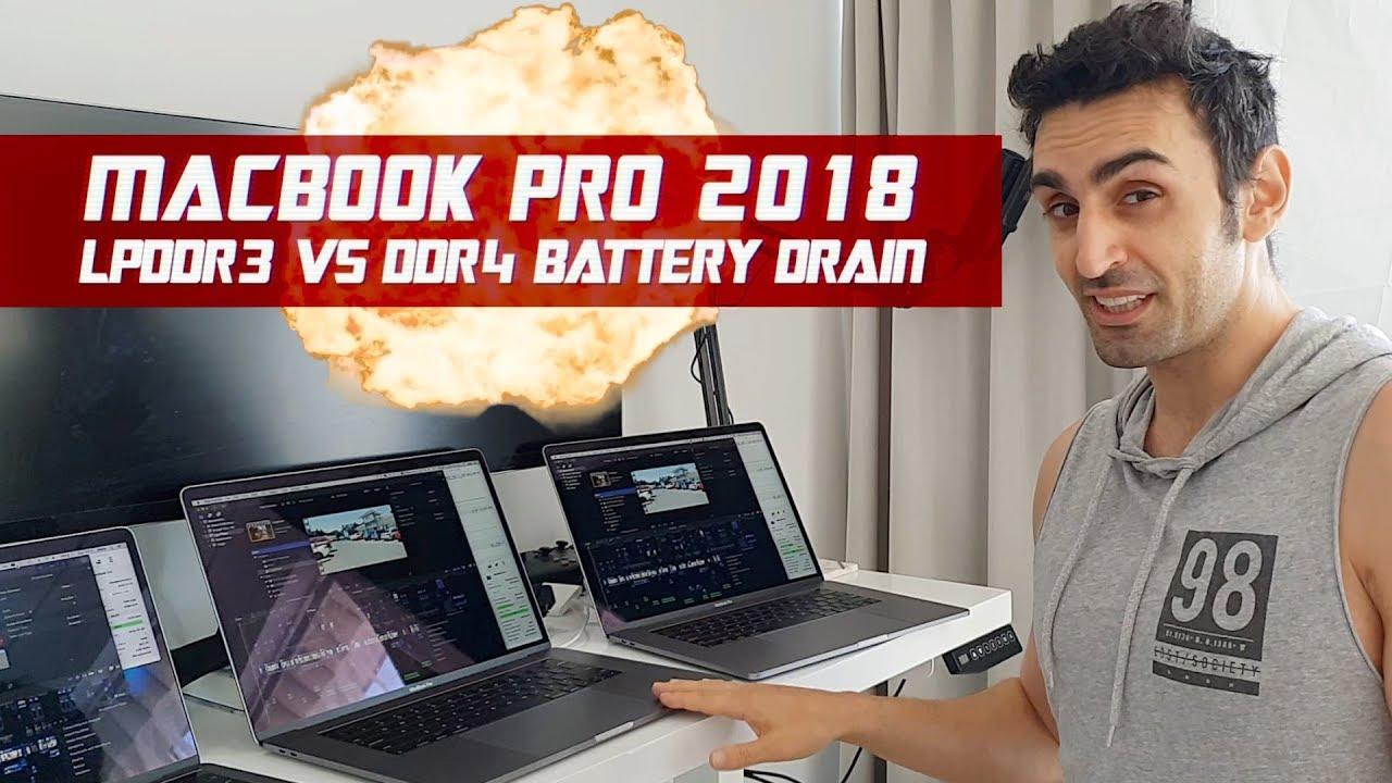 Macbook Pro Ram Review Lpddr3 Vs Ddr4 Battery Drain Test Youtube