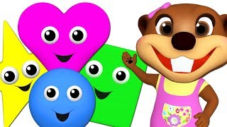 Kids Learn Colors & Baby Talk Shapes with Wooden Puzzle Toy | Teach ABC Songs & Rhymes for Children