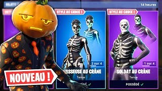 "The SKINS ""Halloween"" are DISPONIBLES on Fortnite! (Skull Trooper..)"
