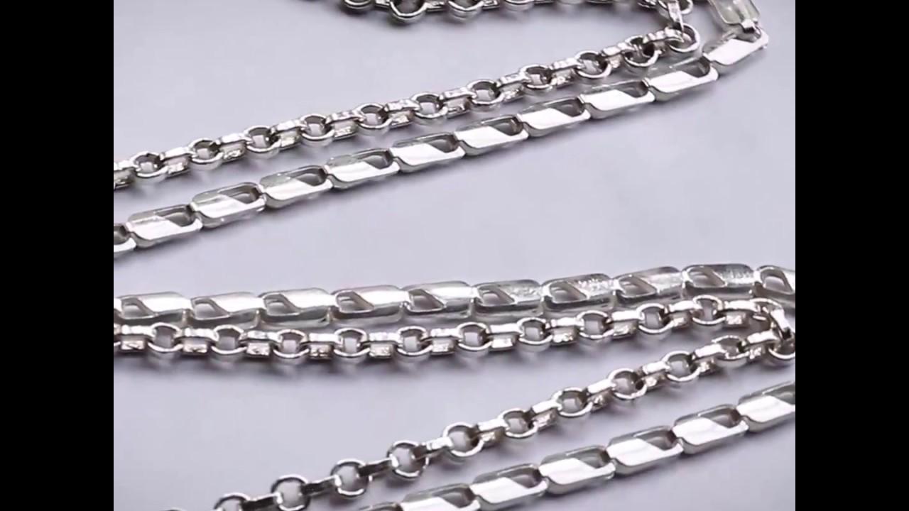 Tejidos de cadenas de plata para hombre