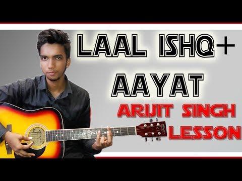 4 Chords*Play LAAL ISHQ+AAYAT (Arijit Singh) Mashup Guitar Lesson Tutorial(Bajirao Mastani+Ramleela)