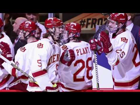 DU Pioneers Hockey Team talks Frozen Four win