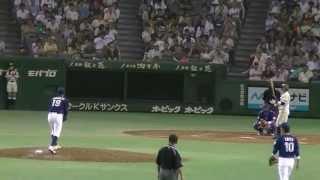 山本翔也(王子) 1死2,3塁で齋藤達則(JR東日本)を空振り三振に抑える 20130714