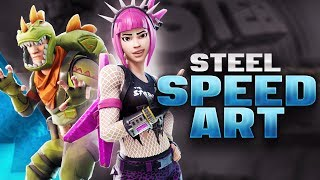Steel (+PACK INFO) - Fortnite Banner Speedart [#162] | AtmoArtworks