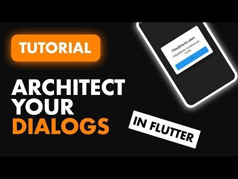 Architect Your Dialogs in Flutter   Flutter Dialogs Tutorial   Build a Dialog Manager in Flutter