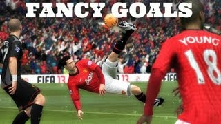 FIFA 14 - HOW TO SCORE FANCY GOALS (Bicycle Kicks, Scissor Kicks, Diving Header & More)