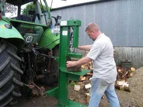 how to build a hydraulic wood splitter for a tractor