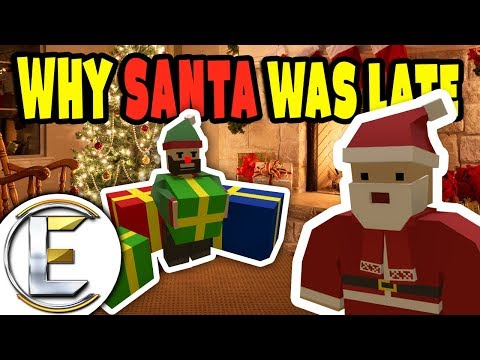 Why Santa Was Late This Year? | Unturned Santa RP - Santa delivering presents (Roleplay)
