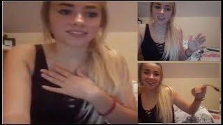 Medusa podrywa ładną blondynkę na kamerkach na Live Stream'ie