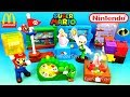 2018 McDONALD'S SUPER MARIO HAPPY MEAL TOYS FULL SET 10 NINTENDO KIDS INCREDIBLES 2 UNBOXING UK EURO