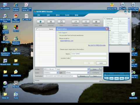 How to register ImTOO MPEG Encoder 3 for free!!