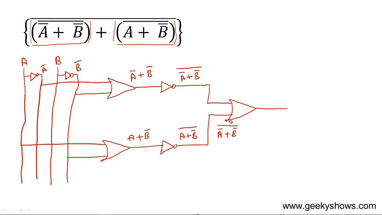 circuit of boolean expression hindi youtube