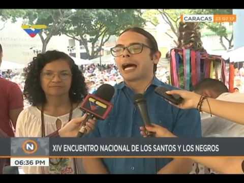 Encuentro de santos negros en la Plaza El Venezolano