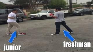 freshman vs  junior 1v1 boxing match suprise win
