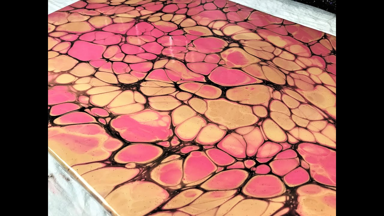 Acrylic Pouring Cells with Metallics - Open Cup Acrylic Pour with Arteza Pearl Colours !