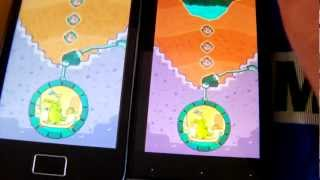 Where's My Water? android game Sony Xperia U vs Samsung Galaxy Ace (Pt-Brasil)