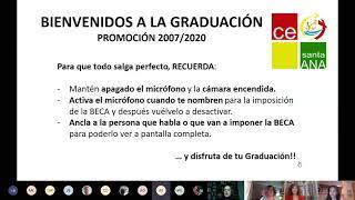 Acto de Graduación 2ºBachillerato. Curso 2019-2020. COLEGIO SANTA ANA DE SEVILLA.