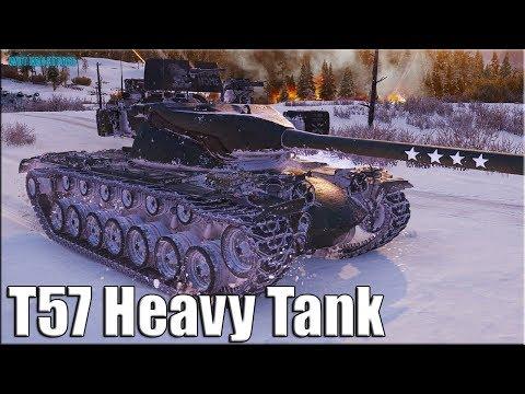 Потная катка 11к урона ✅ World of Tanks T57 Heavy лучший бой