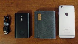 anker powercore 10 050mah portable aluminum battery charger review