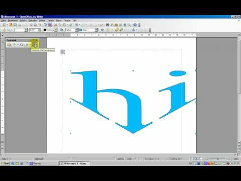 OpenOffice Writer - Fontwork