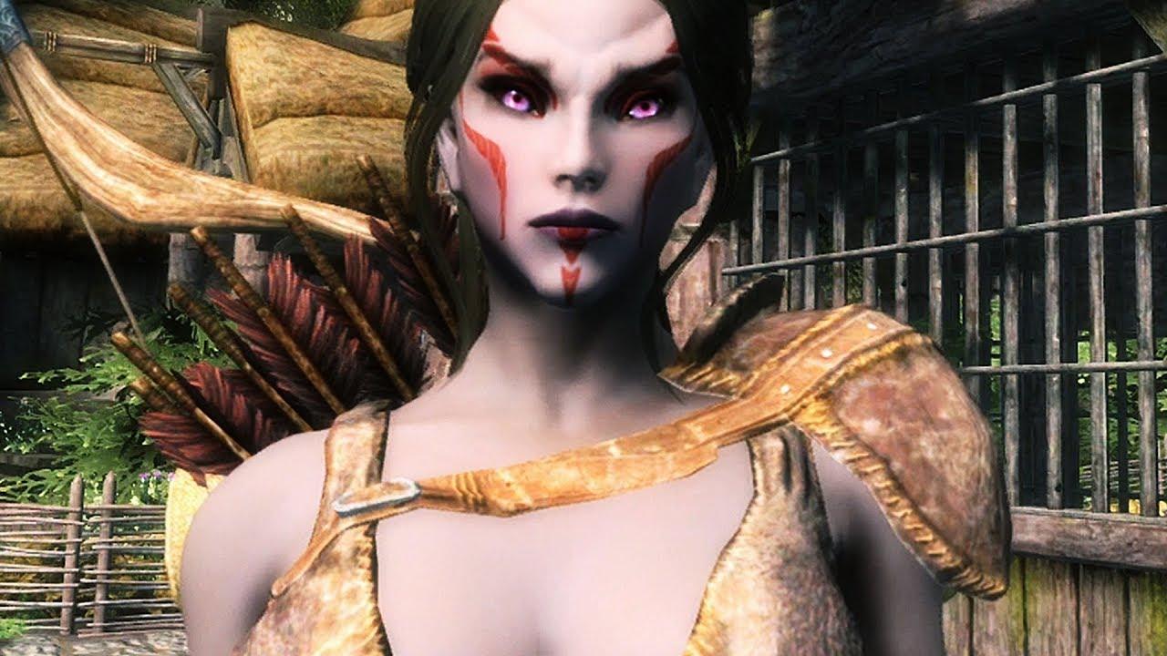 Beautiful female Dark Elf – Part 1: Skyrim Xbox One