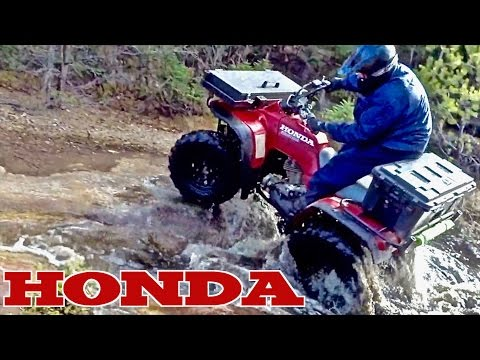 👀💧Wet Return Of The Yamaha Kodiak🐻 & The Grassman🐒 On His Honda ATV - Apr. 15, 2017