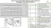 Fuse Box Location And Diagrams Toyota Camry Xv50 2012 2017 Youtube