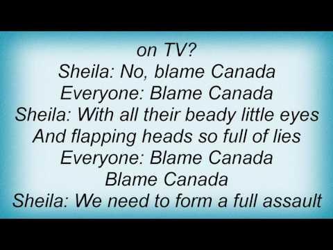 South Park - Blame Canada Lyrics