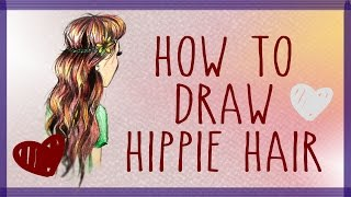 How to Draw Hippie Hair