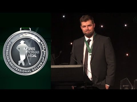 Marc Leishman wins the Greg Norman Medal - 2017 Greg Norman Medal
