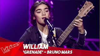 William - 'Grenade' | Blind Auditions | The Voice Kids Belgique