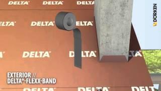 Napojenie difúznej fólie na komín DELTA® FLEXX BAND