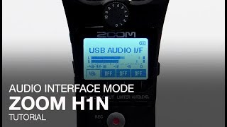 Zoom H1n: Audio Interface Mode