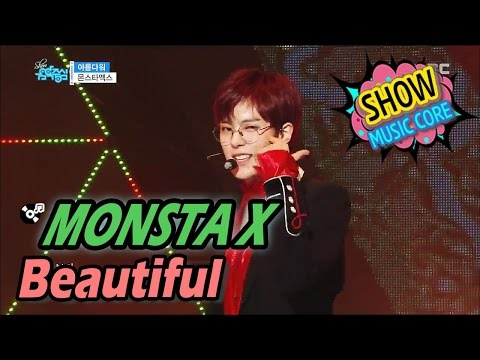 [HOT] MONSTA X - Beautiful, 몬스타엑스 - 아름다워 Show Music core 20170408