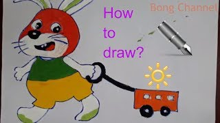 How To Draw Snowball From The Secret Life Of Pets | Bong Channel