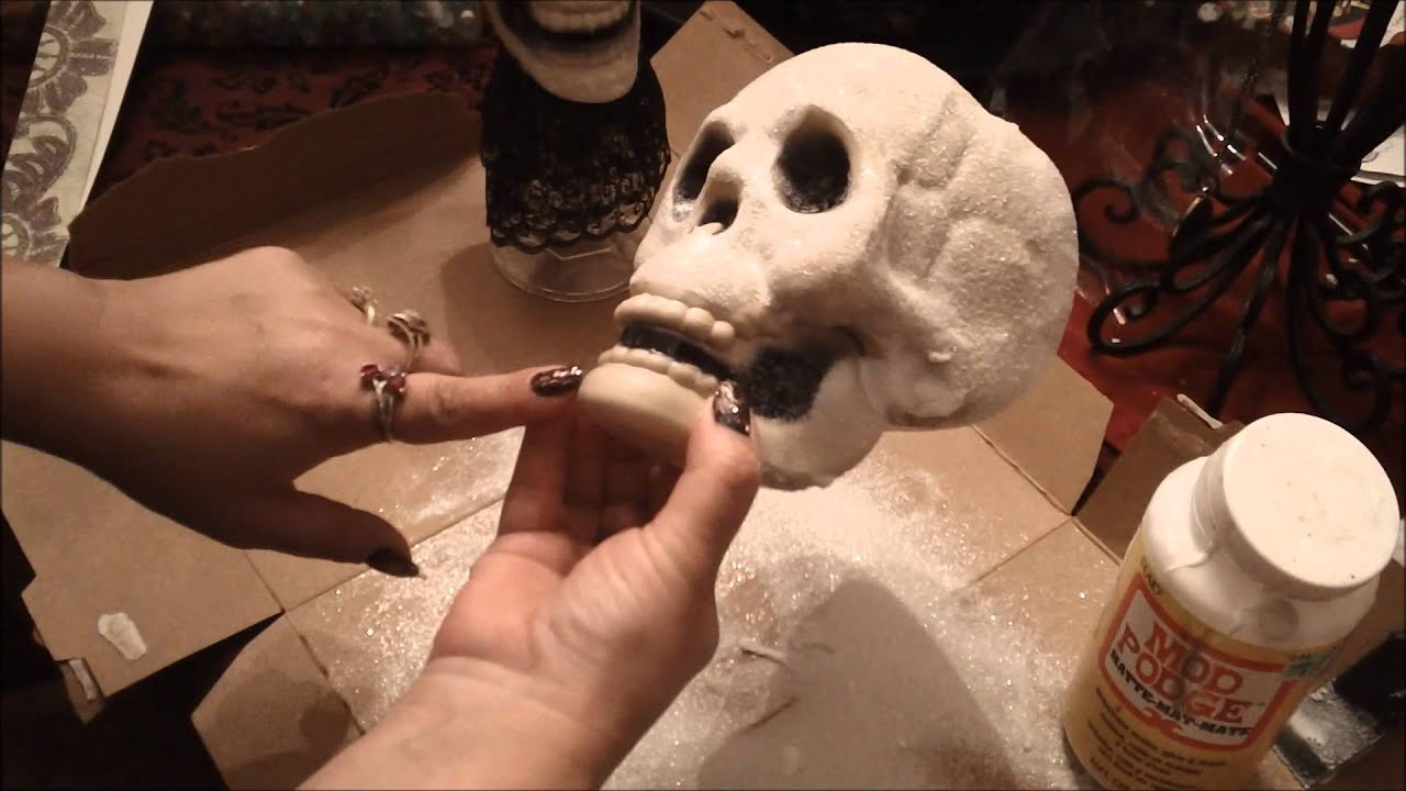 Halloween skull decorations - Halloween Skull Decoration Diy Tutorial