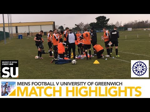 BUCS Football Highlights - University of Suffolk 1st XI v Greenwich 3rd XI