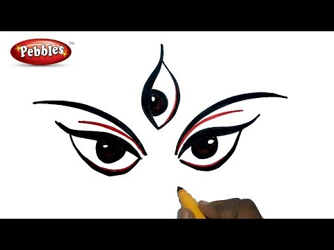how to draw goddess durga