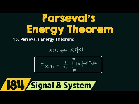 Parseval's Energy Theorem