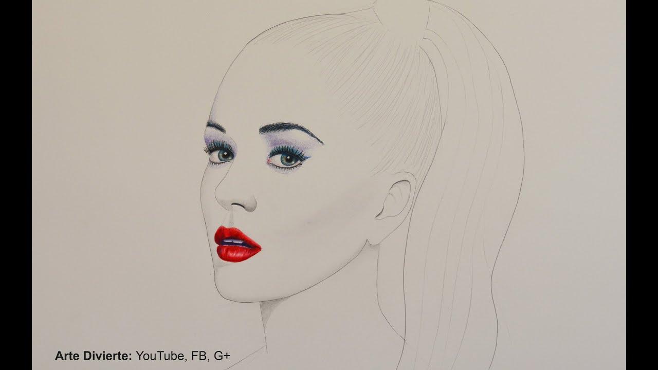 Cmo hacer un retrato minimalista Katy Perry Arte Divierte