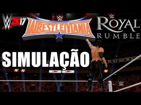 Royal Rumble Match - WWE2K17 - Simulação