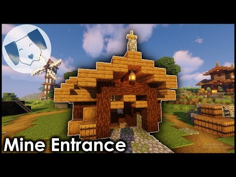 Minecraft: Mine Entrance/Hut Tutorial!