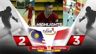 TIPIS BANGET! MALAYSIA VS INDONESIA ( FT : 2-3 ) - HIGHLIGHTS AFF FUTSAL CHAMPIONSHIP 2019
