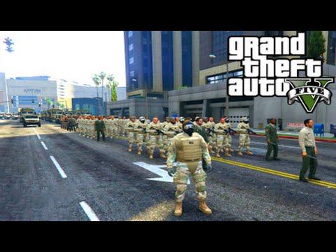 GTA 5 Mods - ARMY PATROL MOD! (GTA 5 PC Mods Gameplay)