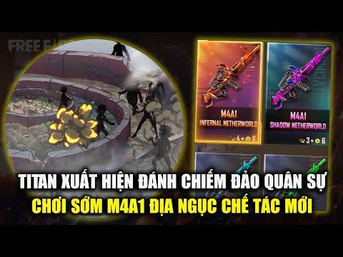 Free Fire | Titan Sẽ Chuẩn Bị Xâm Chiếm Đảo Quân Sự - Review Chế Tác M4A1 Địa Ngục | Rikaki Gaming