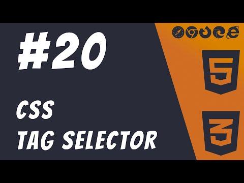 #20: CSS Tag Selector - HTML5 + CSS3 Frontend Web Development Tutorials