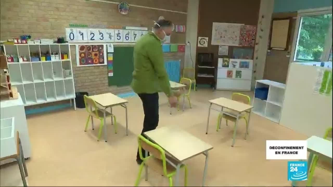 Déconfinement en France : une rentrée scolaire sous haute sécurité qui inquiète les enseignants